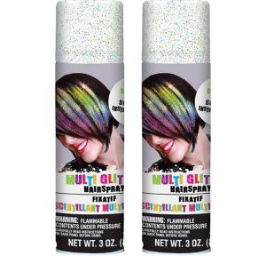 Glitter Rainbow Hair Spray 2ct
