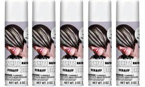 White Hair Spray 5ct