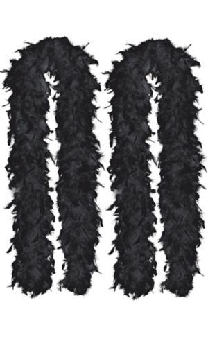 Black Feather Boas 2ct