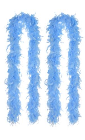 Light Blue Feather Boas 2ct