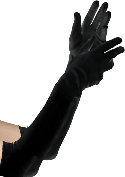 Child Black Elbow Gloves