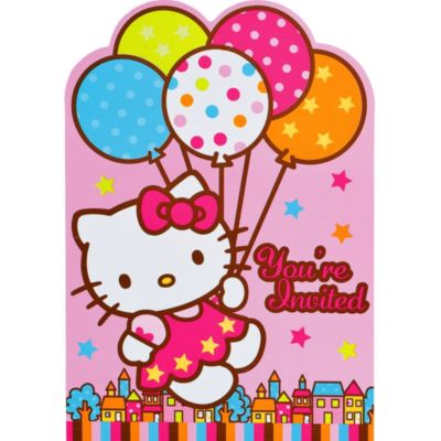 Hello Kitty Invitations 8ct