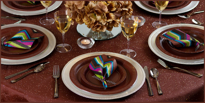 Solid Chocolate Brown Tableware #4