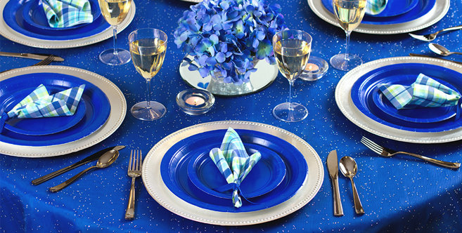 Solid Royal Blue Tableware #4
