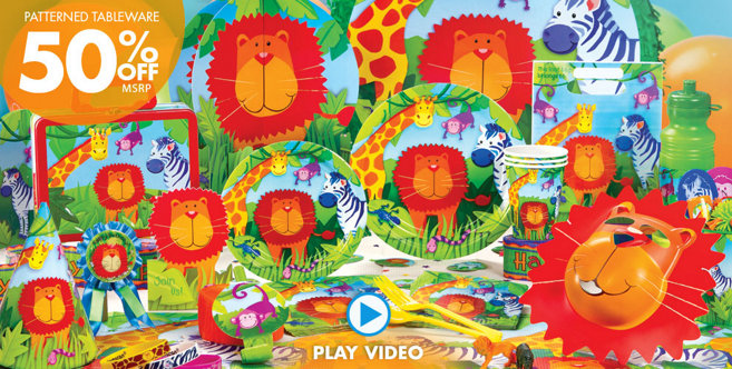 Jungle animals party supplies jungle animals birthday for Animal party decoration