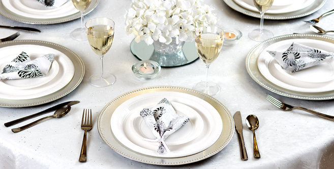 solid white tableware #4