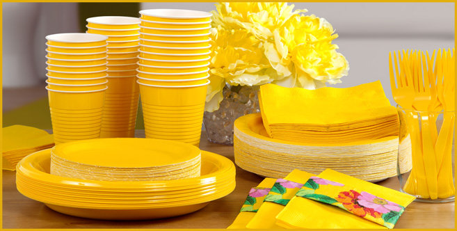 solid yellow tableware #3