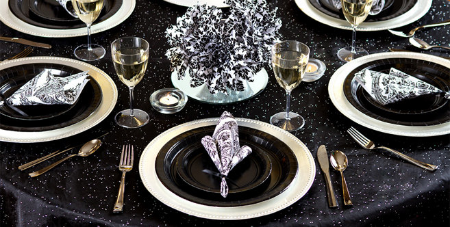 solid black tableware #4