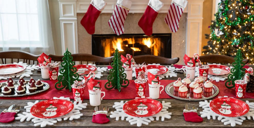 very merry snowman christmas party supplies party city. Black Bedroom Furniture Sets. Home Design Ideas