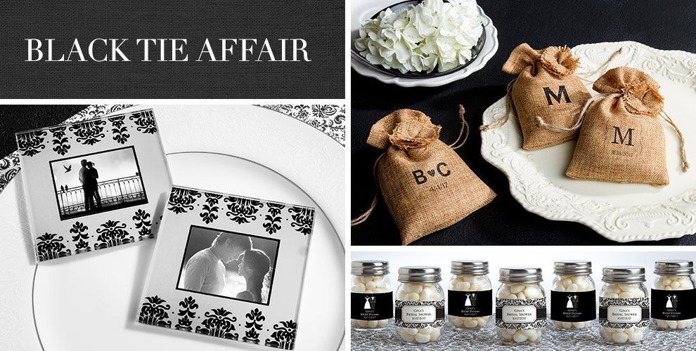 Black Wedding Favors