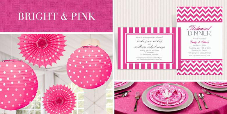 bright pink wedding supplies - Party City Decorations