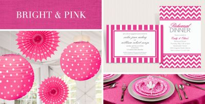 Bright Pink Wedding Supplies