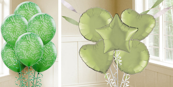 Leaf Green Balloons - Party City