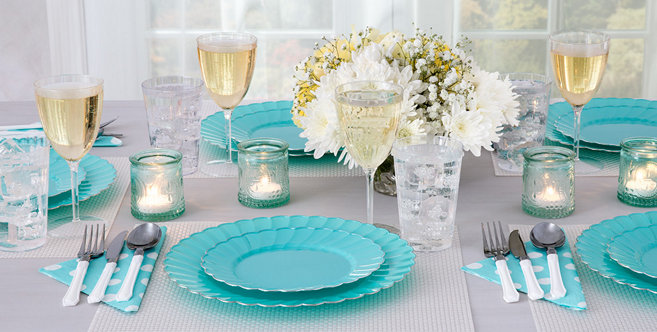 Solid Robins Egg Blue Tableware #2