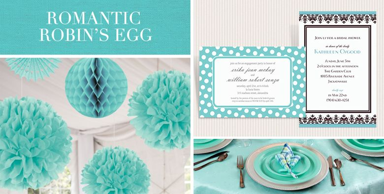Robin S Egg Blue Wedding Supplies