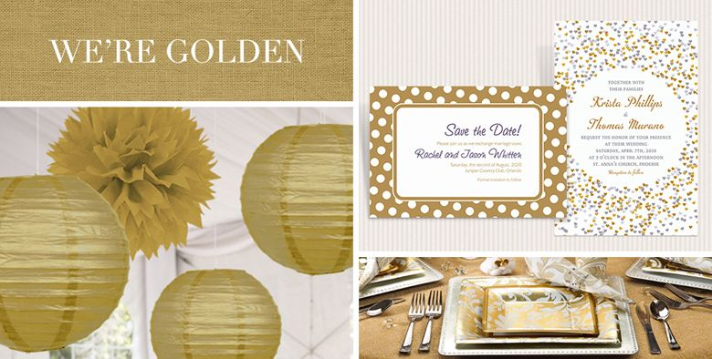 Gold Wedding Party Supplies