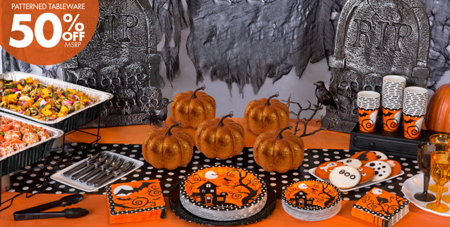 Frightfully Fancy Halloween Party Supplies  Party City - Party City Halloween Decorations