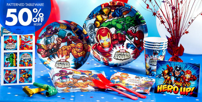 Marvel Super Hero Party Supplies - Super Hero Birthday - Party City