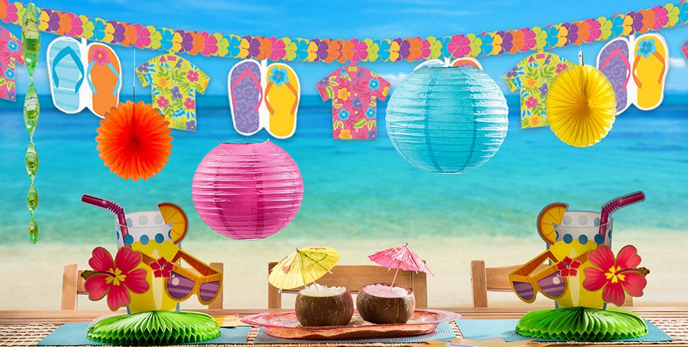 beach party decorations decorations for a beach party party city - Beach Decorations