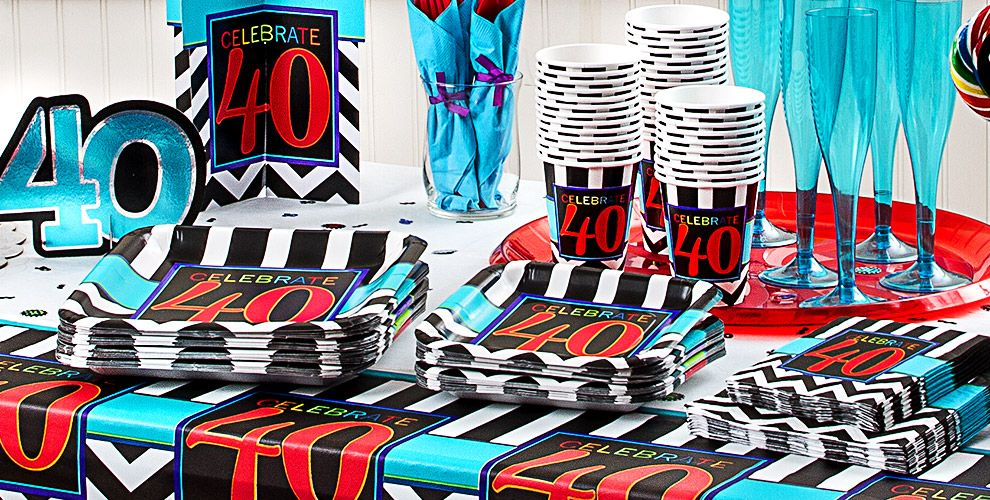 Celebrate 40th Birthday Party Supplies