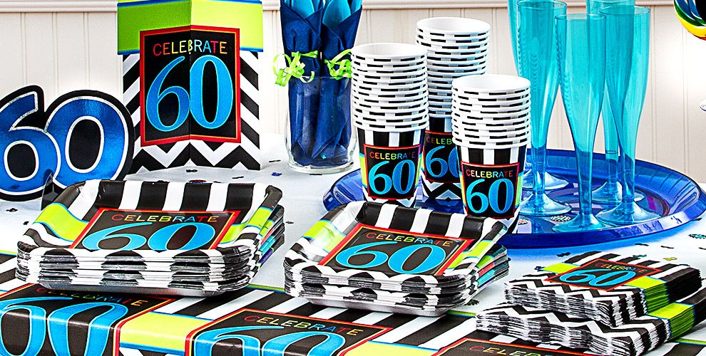 Celebrate 60th birthday party supplies 60th birthday for 60th party decoration ideas
