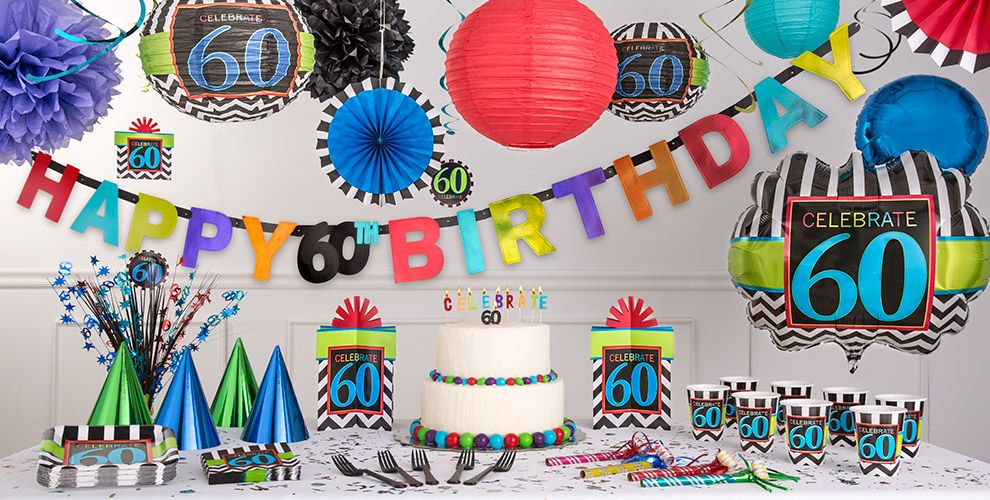 Celebrate 60th birthday party supplies 60th birthday for 60th birthday decoration ideas