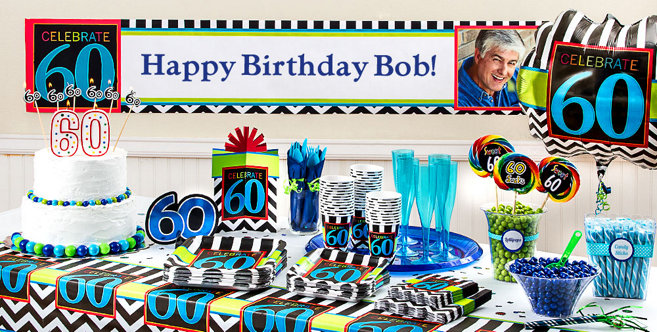 Celebrate 60th birthday party supplies 60th birthday for Decoration 60th birthday party