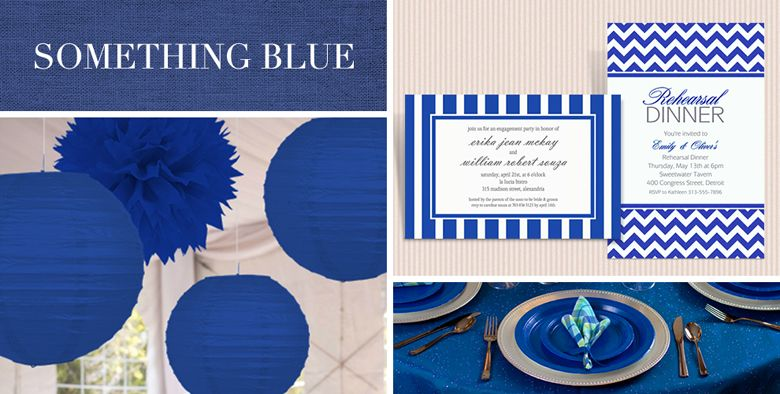 Blue Wedding Supplies