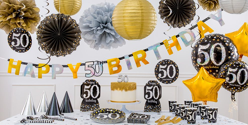 Sparkling Celebration 50th Birthday Party Supplies