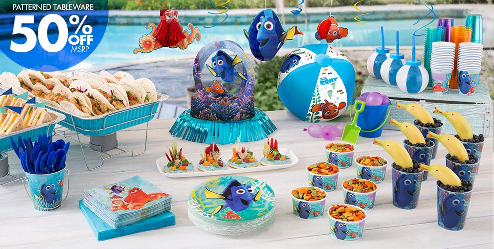 Summer Finding Dory Party Supplies - Party City