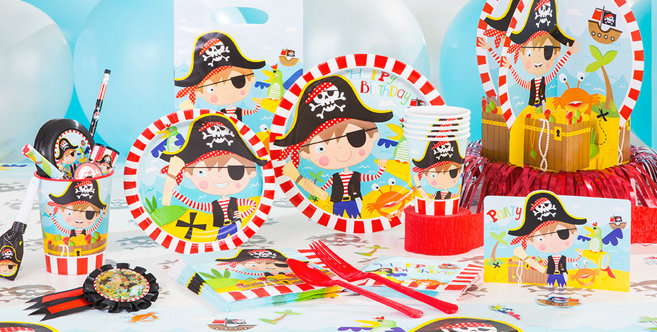 Little Pirate Party Supplies - Boys Birthday Party Themes ...