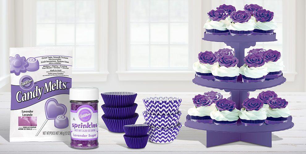 Purple Baking Supplies