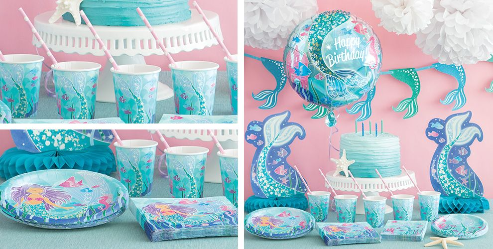 Mermaid Party Supplies - Mermaid Party - Party City