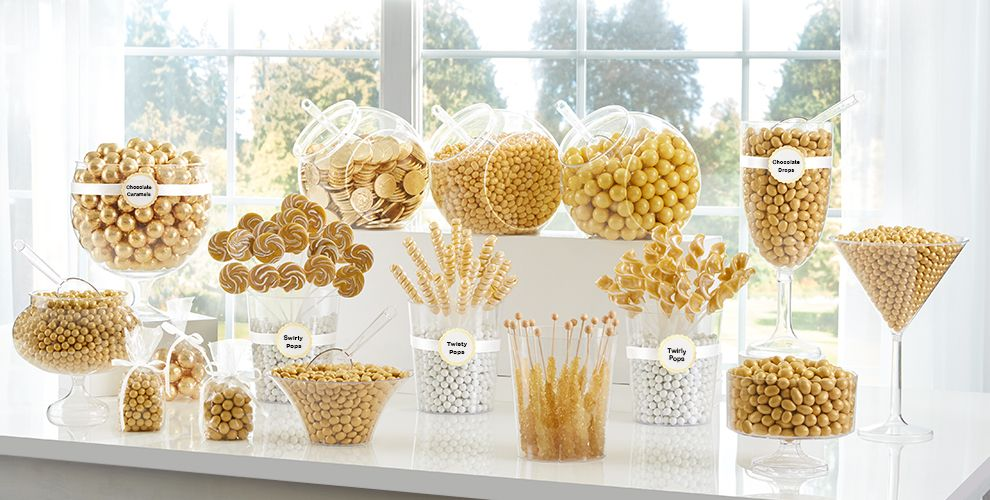 Gold Candy Buffet Supplies - Gold Candy & Containers ...