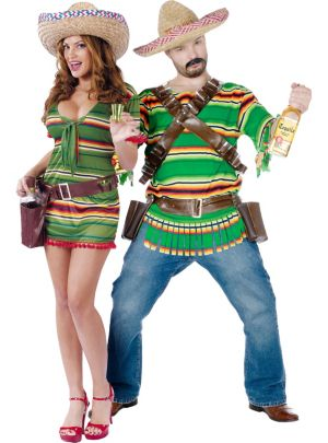 Sexy Shooter and Tequila Pop Dude Couples Costumes