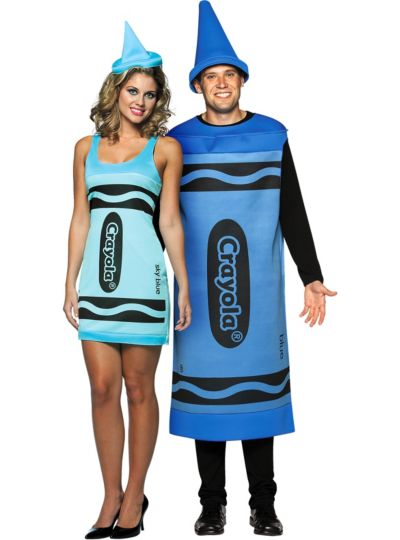 Blue Crayola Crayons Couples Costumes