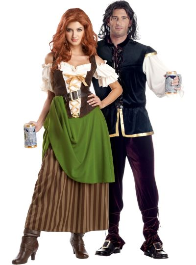 Tavern Maiden and Man Couples Costumes