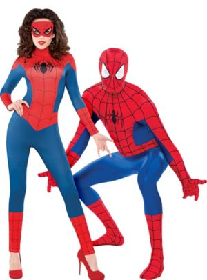 Adult Spider-Girl & Spider-Man Couples Costumes