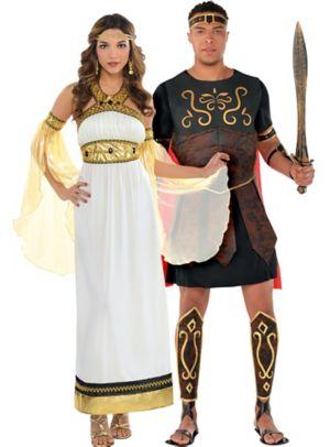 Adult Divine Goddess & Centurion Couples Costumes