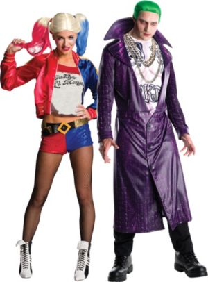 Adult Harley Quinn & Joker Couples Costumes - Suicide Squad
