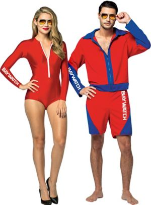 Adult Baywatch Babe & Baywatch Couples Costumes