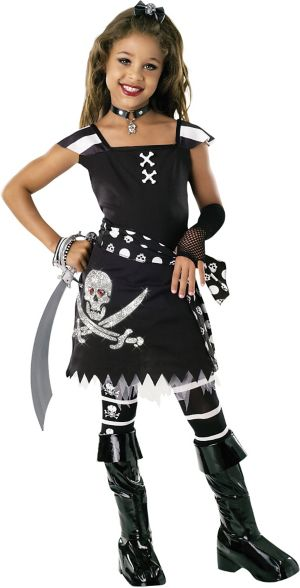 Girls Scar-Let Pirate Costume