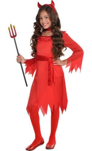 Girls Lil Devil Costume