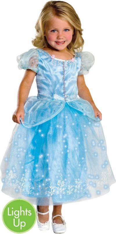 Girls Light-Up Crystal Princess Costume