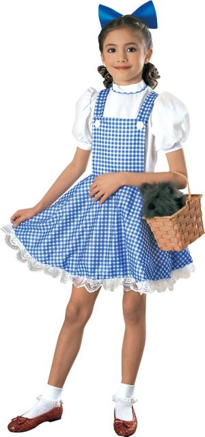 Girls Dorothy Costume Deluxe - Wizard of Oz