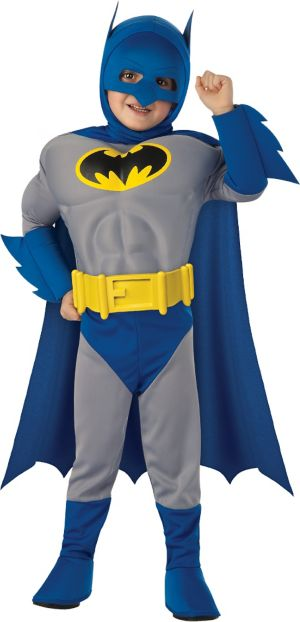 Toddler Boys Batman Muscle Costume - The Brave and the Bold
