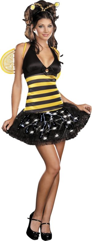 Adult Miss Bee-De Delightful Light-Up Bee Costume