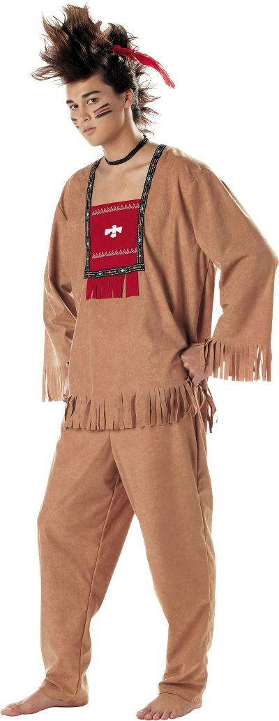 Adult Running Bull Native American Costume