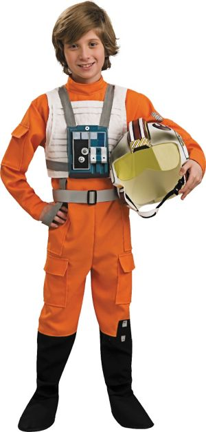 Boys X Wing Pilot Costume Deluxe - Star Wars