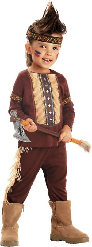 Toddler Boys Lil' Warrior Native American Costume